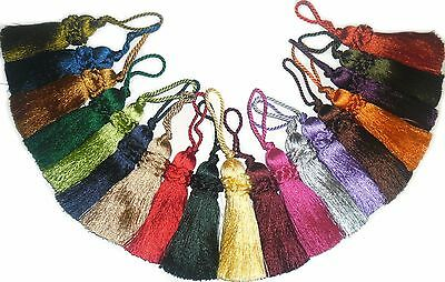 Silky Key Tassels, Assorted Cols, X4, Cushions, Blinds, Curtains, Art 11827/9 • 5.99£