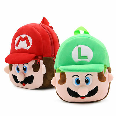 2017 New Mario Luigi Kindergarten School Bag Kid's Backpack 23*21*9CM Gift • 2.99£