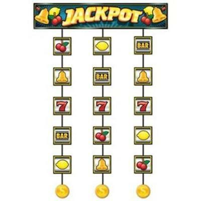 $5.59 • Buy Slot Machine Jackpot Stringer Casino Vegas Gambling Party Hanging Decoration