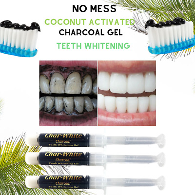 AU19.65 • Buy Coconut Activated Charcoal Teeth Whitening Gel~Fluoride Free-BRIGHT SMILE