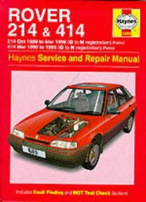 Rover 214 And 414 (89-96) Service And Repair Manual (Haynes Service And Repair, • 3.15£