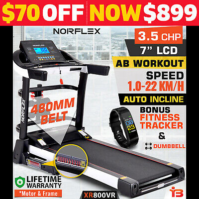 AU999 • Buy NEW NORFLEX Electric Treadmill Auto Incline Home Gym Exercise Machine Fitness