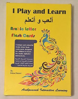 Arabpeacock Interactive Learning I Play And Learn Arabic Letter Flash Cards • 10£