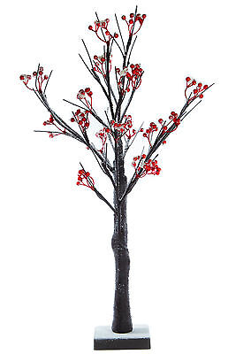 Small Table Top Snowy Berry Pre- Lit LED Tree , 60cm Battery Operated Christmas  • 9.99£