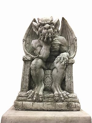 (NEW) King Of The Gargoyles,Very Solid Heavy Stone Concrete Garden Ornaments  • 89.95£