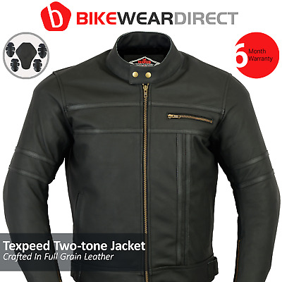 £79.99 • Buy Leather Motorbike Jacket Motorcycle Biker With CE Approved Armour Thermal Black