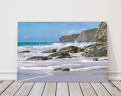 £13.95 • Buy Watergate Bay Cornwall Canvas Print Framed Picture Wall Art Newquay Various Size