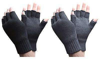 $13.89 • Buy Heat Holders - Mens 3.2 Tog Warm Thermal Lined Outdoor Winter Fingerless Gloves