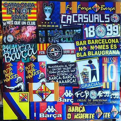 100 X Barcelona Stickers Based On Ultras Poster Badge Scarf Flag FCB Camp Nou FC • 12.99£
