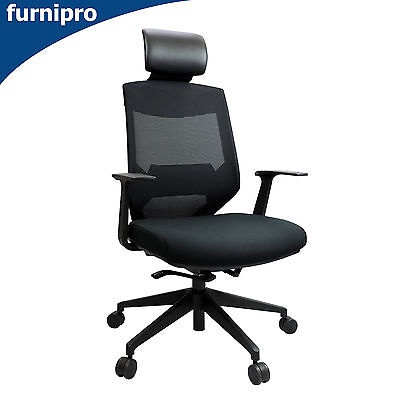 AU315 • Buy New Vogue High Back Mesh Computer Chair Ergonomic Back Support & Tension Control