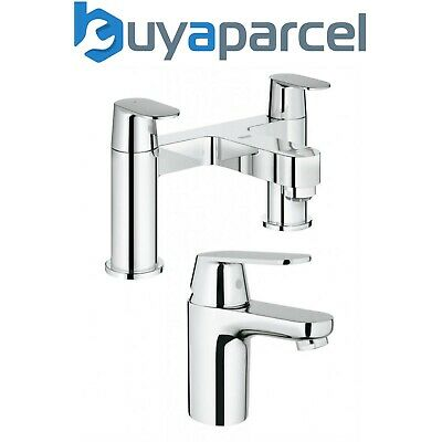 Grohe Eurosmart Cosmo 32824 Basin Mixer Tap + 25128 Deck Mounted Bath Filler • 194.99£