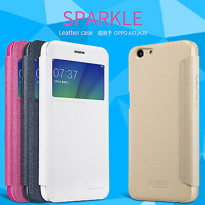 AU15.99 • Buy OPPO A57 Case Nillkin PU LEATHER CASE Sparkle Series Case Cover For OPPO A57