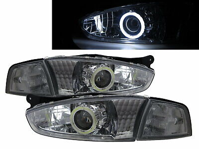 $285.19 • Buy COLT 1995-2002 3D CCFL Projector Headlight Chrome Europe For MITSUBISHI LHD