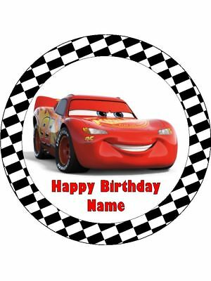 LIGHTNING McQUEEN 19cm Edible Icing Image Birthday Cake Topper Party Decoration • 7.41£