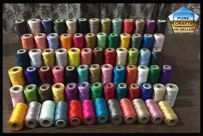 75 Large Art. Silk/ Rayon Embroidery Machine Thread Spools For Brother/Janome UK • 23.89£