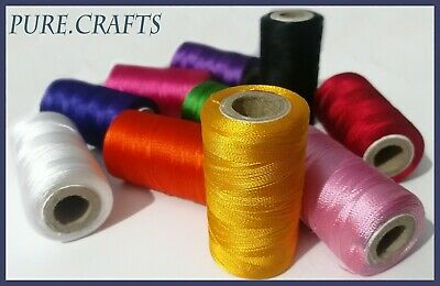 New 10 Spools Set Sewing Machine Silk Embroidery Threads BROTHER JANOME GUTERMAN • 4.94£