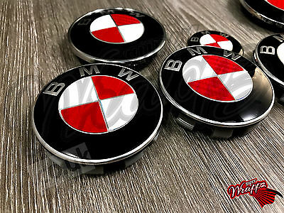 £9.99 • Buy RED & WHITE CARBON FIBER Decal For BMW Badge Emblem HOOD TRUNK RIMS FITS ALL BMW