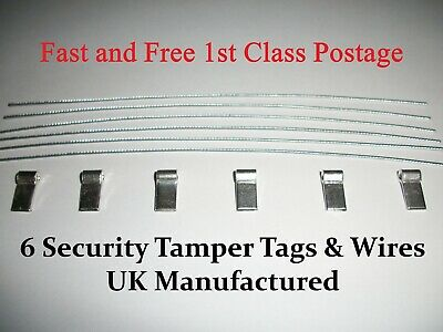 6 Meter Seals Security Electrical Tags - Meter Seal Tags - Best Quality On Ebay • 5.65£