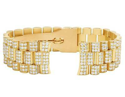 $ CDN19138.50 • Buy Mens President VS Diamond Watch Band For Rolex Day-Date In 18K Yellow Gold 12 Ct