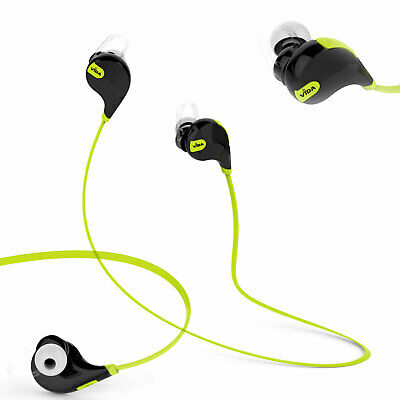 AU35.59 • Buy Sports Wireless Bluetooth 4.0 Earphones Headset Earbuds Stereo HD Audio Gym Use