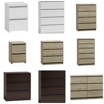 MODERN - Chest Of Drawers Bedroom Furniture Storage Bedside 2/3/4/5/6/8 Draws • 36.99£