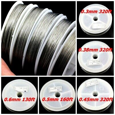 $6.88 • Buy Tigertail Beading Wire Nylon-coated Stainless Steel Clear 0.3-0.6mm Strong 7 Str