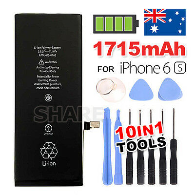 AU10.95 • Buy 1715mAh Li-ion Internal Replacement Battery For IPhone 6S Free Tool Kit