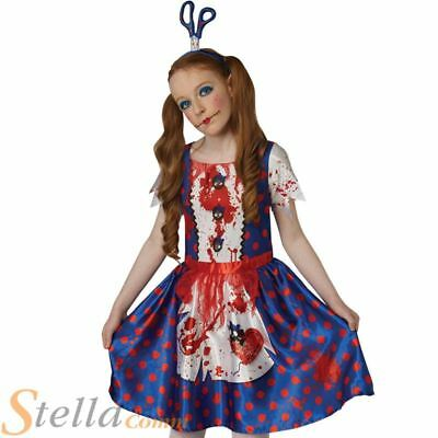 £10.98 • Buy Girls Bloody Rag Doll Costume Scary Halloween Child Horror Fancy Dress Outfit