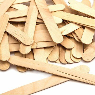 Lollipop Lolly Wooden Sticks Natural Craft Model Making, Ice Lollies 100-6000 • 1.59£
