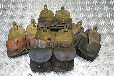 Genuine Vintage Military Issued WW2 Pattern Double Leather Ammo / Utility Pouch  • 24.99£