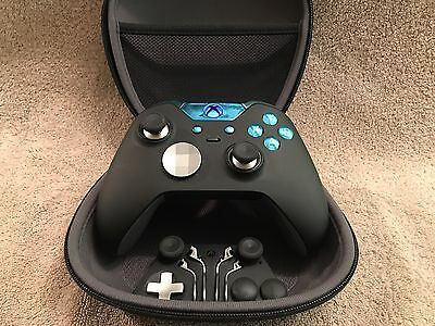 $1000 • Buy Elite Xbox One 1 Controller - Custom BLUE Led, Buttons, ABXY W/ Letters