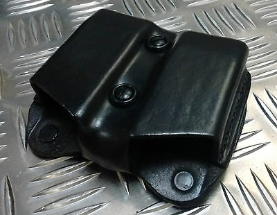 Genuine De Santis MoD Military / Police Black Twin Mag Leather Ammo Pouch A01 • 11.99£