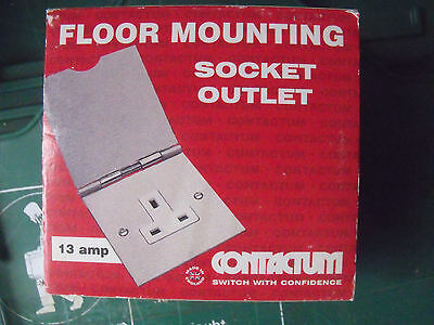 Contactum 3344BC Brushed Chrome 1g Unswitched 13a Floor Mounting Socket • 13.95£