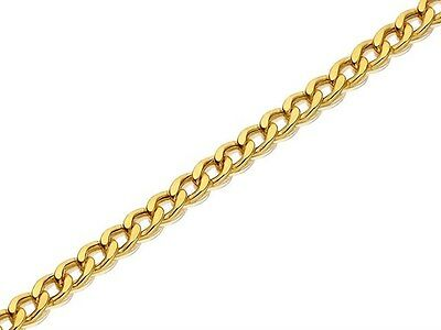 £3.99 • Buy Gold Coloured Strong Metal Link Chain 11mm X 8mm Sold Btm, Jewellery, Crafts