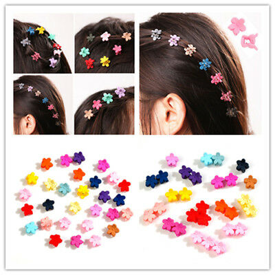 $1.51 • Buy 30 PCS MINI Colorful Kids Girl Claw Hair Clips Flower Hairpins Hair Accessory