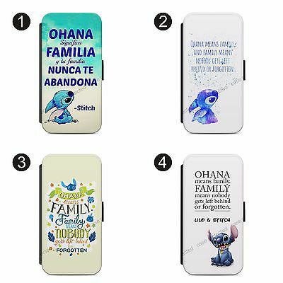 £9.39 • Buy  Lilo & Stitch Ohana Means Family FLIP Wallet Case IPhone & SAMSUNG MODELS
