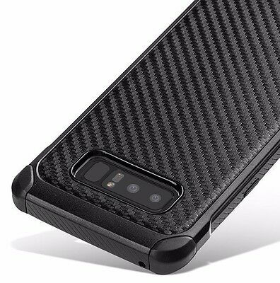 $ CDN11.23 • Buy For Samsung Galaxy Note 8 -Hybrid Shockproof Armor Case Cover Black Carbon Fiber