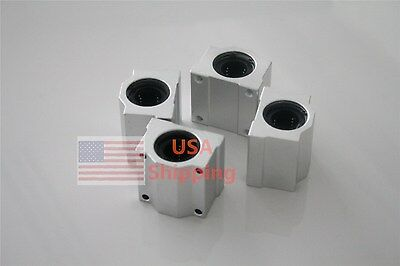 $11.99 • Buy 10mm 4PC SCS10UU Linear Ball Bearing Pillow Block Linear Slides Unit For CNC