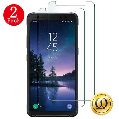 $ CDN5.13 • Buy [2-PACK] Samsung Galaxy S8 Active (AT&T) Clear Tempered Glass Screen Protector