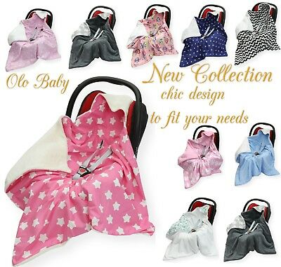 £19.99 • Buy NEW COTTON & MINKY PLUSH CAR SEAT BABY BLANKET - COSYTOES To Fit Maxi Cosi Brand