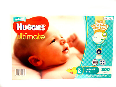 AU84.99 • Buy New Range Huggies Ultimate Nappies Infant 200 Disposable  Baby Boy Girl Nappy