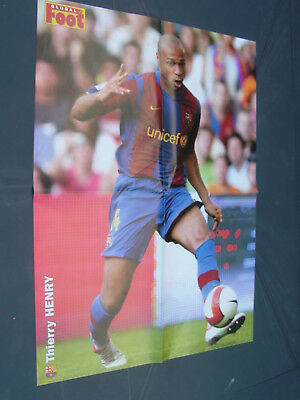 £8.53 • Buy Poster Football THIERRY HENRY FCB BARCELONA OM OLYMPIQUE MARSEILLE  40 X 54 Cm