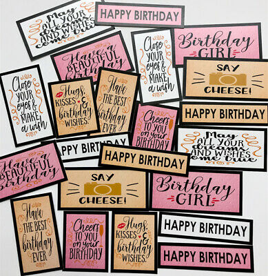 £2.09 • Buy 19+ BIRTHDAY GIRL MIX Sentiments/Toppers Card Making/Scrapbooking/Crafts BGMIX