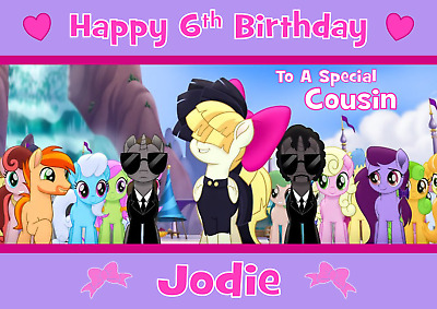 My Little Pony Movie Personalised A5 Birthday Card Daughter Sister Niece Name  • 2.99£