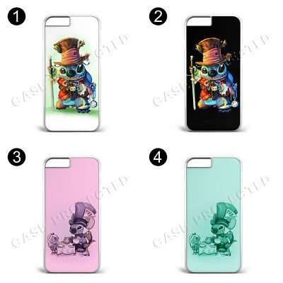 £7.69 • Buy Mad Hatter Lilo And Stitch Hard Phone Case Cover For IPhone & Samsung