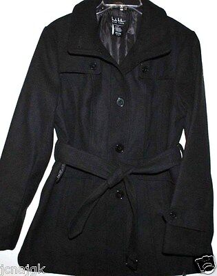 $41.40 • Buy Nicole Miller NWT Charcoal Gray Synthetic Wool Short Trench Coat W/ Belt