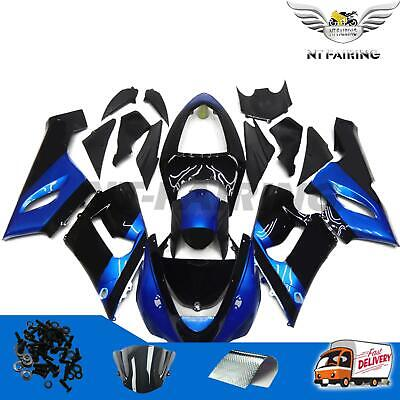 $529.99 • Buy NT Blue Black Plastic Injection Fairing Fit For Kawasaki 2005 2006 ZX6R 636 S005