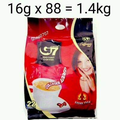 AU53.50 • Buy 88 X16g Vietnam Trung Nguyen G7 Instant Coffee 3 In 1 COLLAGEN ADDED SUGAR FREE