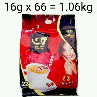 AU42.99 • Buy 66 X16g Vietnam Trung Nguyen G7 Instant Coffee 3 In 1 COLLAGEN ADDED SUGAR FREE