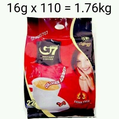 AU61.99 • Buy 110 X16g Vietnam Trung Nguyen G7 Instant Coffee 3 In 1 COLLAGEN ADDED SUGAR FREE